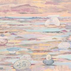 1974- Les galets et la plage - 81x67