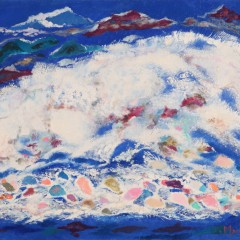 1973 - L'éclatement de la vague - 65x53