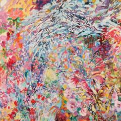 1989 - Le jardin aux papillons - 196x130